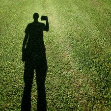 Free Shadow Of Photographer On Grass Stock Photo - 19785630