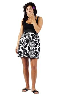 Teenage Girl In Dress Surprised Stock Images