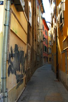 Street In Trieste Stock Photography