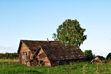 Free Abandoned Old Wooden Houses In Rural Area Stock Photos - 19786103