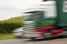 Free Lorry Speeding On Its Way Royalty Free Stock Photo - 19786105