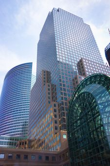 Modern NYC Buildings Royalty Free Stock Photography