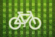 Free Bicycle On Grass Field Stock Photos - 19787253