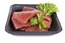 Free Beef Frying Steak In Tray - Isolated Stock Photos - 19788153
