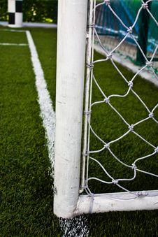 Football Field Goal Poles Stock Image