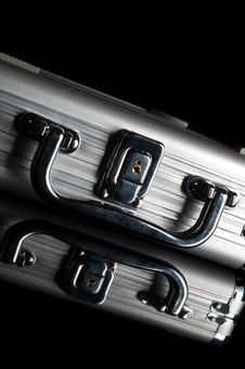 Free Silver Suitcase Stock Photo - 19788870
