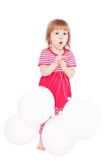 Free Little Girl With Balloons Royalty Free Stock Photography - 19789467