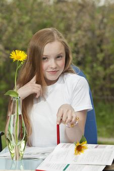 Portrait Of The Young Girl Stock Photos