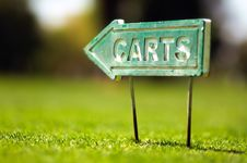 Free Carts Sign Royalty Free Stock Photos - 19789778