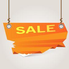 Modern Sale Banner Stock Image