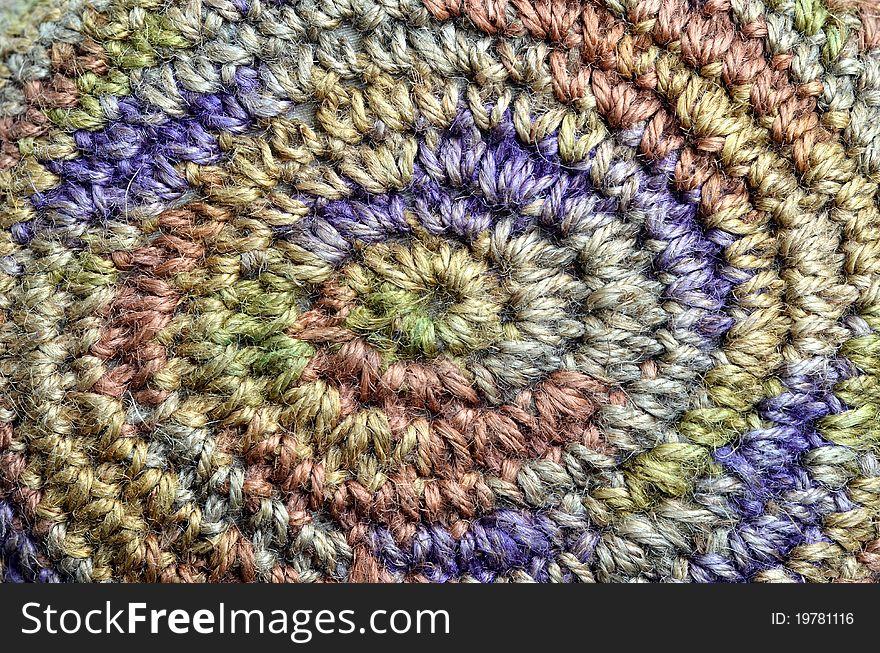 Colorful yarn weave