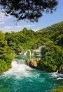 Free Waterfall KRKA In Croatia Royalty Free Stock Image - 19790276