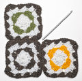 Free Knitted Color Pattern And Crochet Stock Image - 19799031