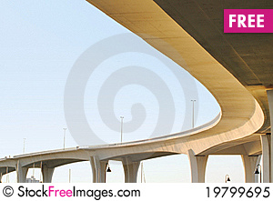 Free Massive Bridge Against A Blue Sky Royalty Free Stock Photo - 19799695