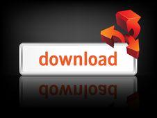 Modern Metal Download Button Royalty Free Stock Photo