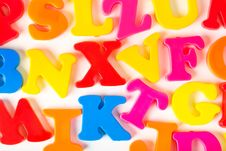 Free Multicolored Letters Royalty Free Stock Photo - 19790285