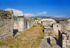 Ancient Amphitheater At Split, Croatia Royalty Free Stock Photos
