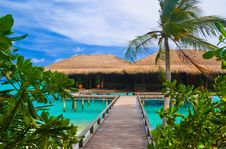 Free Water Bungalows On A Tropical Island Stock Photo - 19790400