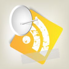 Yellow Paper With Rss Symbol Stock Photo