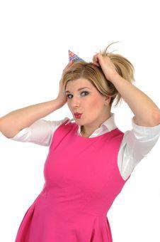 Free Pretty Party Female Celebrating Birthsday Royalty Free Stock Image - 19790656