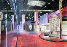 Free Showroom Sketch Stock Image - 19790711