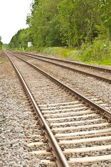 Free Straight Rail Tracks Royalty Free Stock Photos - 19790768