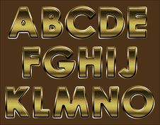 Free Font Bronze, Page1 Royalty Free Stock Images - 19791249