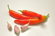 Garlic And Peppers Stock Image