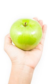 Free Apple In Hand Stock Photos - 19791303