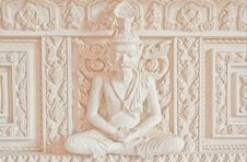 Ascetic Statue In Thai Style Molding Art Royalty Free Stock Photography