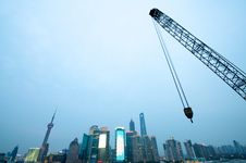 Free Shanghai Crane Royalty Free Stock Photography - 19791557