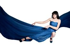 Free The Woman In A Long Flying Dress Royalty Free Stock Images - 19792229