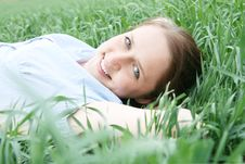 Free Girl On  Grass Royalty Free Stock Images - 19792429