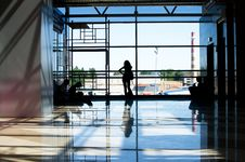 Free People Waiting In The Airport Royalty Free Stock Photography - 19792587