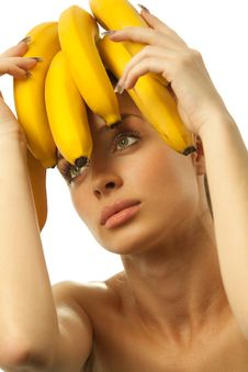 Free Woman With Fruits Headwear Stock Images - 19793164