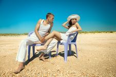 Free Couple Resting On Beach Stock Images - 19793234