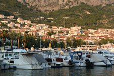Free Sunset In Makarska, Croatia. Yaht S Port. Stock Image - 19793701