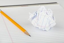 Free A Pencil On A Notebook Stock Photo - 19793820