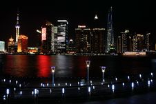 Free Night View In Shanghai Bund Royalty Free Stock Photos - 19794458