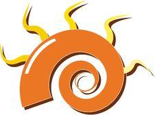 Free Orange Spiral Royalty Free Stock Photo - 19794545