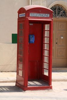 Free Malta Telephone Box Stock Images - 19794744