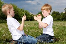Two Brothers Outdoors Stock Photography