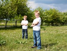 Free Two Brothers Outdoors Royalty Free Stock Images - 19794839