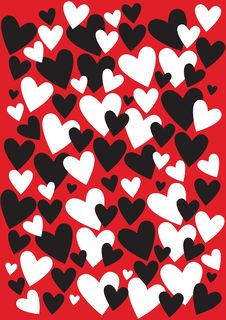 Free Abstract Background With Many Color Hearts Stock Photo - 19795190