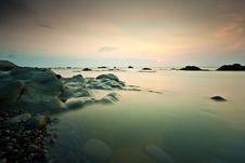 Beach And Sunset Stock Photos