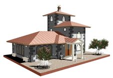 Free Ancient Old Church-3D Royalty Free Stock Photography - 19795577