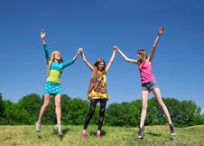 Free Young Girls Express Positivity Stock Photos - 19795633