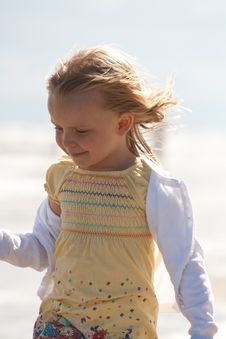 Free Girl At The Beach Royalty Free Stock Photo - 19796085
