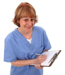 Nurse Holding Clipboard Stock Image
