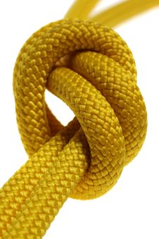 Free A Knot On Double Yellow Rope Royalty Free Stock Images - 19797229